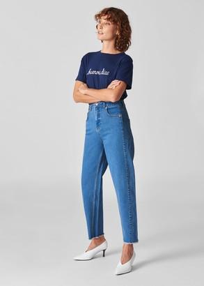 High Waist Barrel Leg Jean