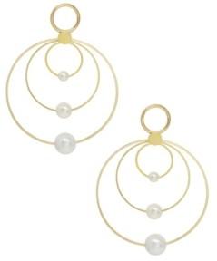 Ettika Multi Hoop Imitation Pearl Earrings