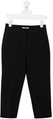 Msgm Kids Slim Fit Tailored Trousers