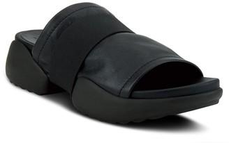 Spring Step Leather Slip On Sandals - Elellia