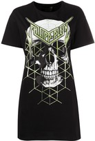 Philipp Plein skull print T-shirt dress