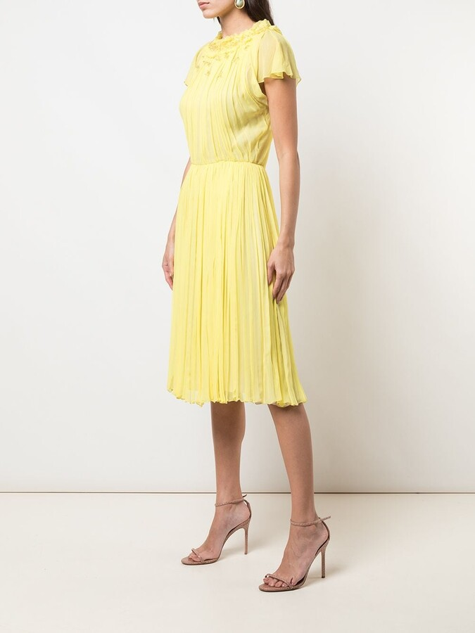 Thumbnail for your product : Jason Wu Collection Pleated Short Sleeve Dress