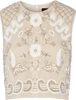 Needle & Thread Embellished chiffon top