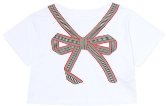BURBERRY KIDS Icon Stripe cotton jersey T-shirt