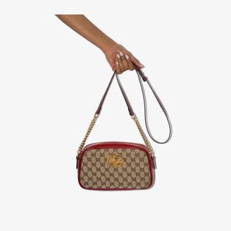 Gucci Beige Marmont GG Supreme leather shoulder bag