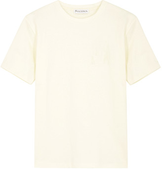 J.W.Anderson Ecru Logo-embroidered Cotton T-shirt