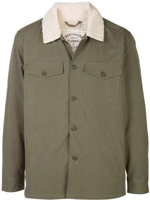 Portuguese Flannel shearling collar jacket