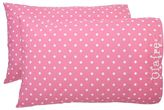 Dottie Pillowcases, Set of Two, Standard, Bright Pink