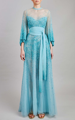 Elie Saab Bead Embroidered Midi Dress