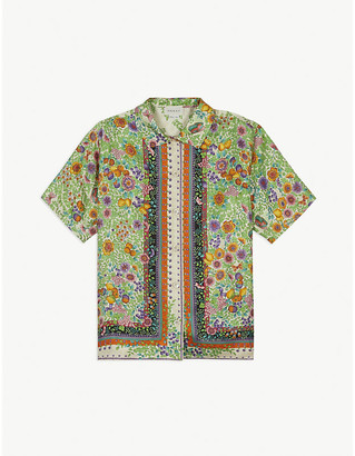 Gucci Fruit and floral-print silk shirt 4-12 years