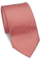 Salvatore Ferragamo Link Print Silk Tie