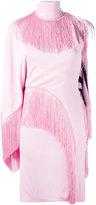 Givenchy asymmetric tassel dress - women - Silk/Acetate/Viscose - 36