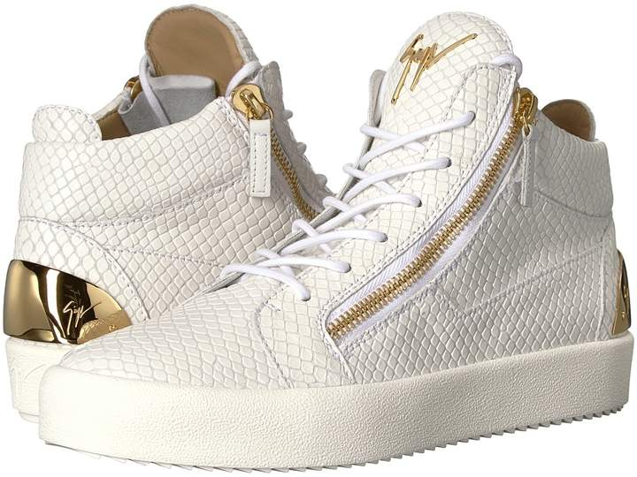 Giuseppe Zanotti May London Heel Plate Mid Top Sneaker Men's Shoes