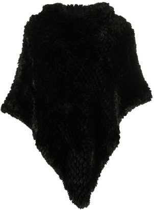 Liu Jo Faux-Fur Hooded Poncho
