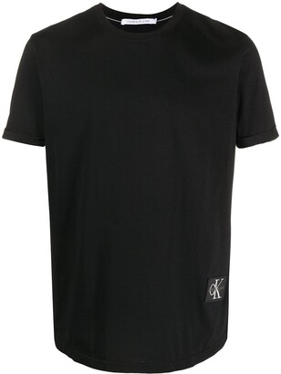 Calvin Klein Jeans logo-patch crew neck T-shirt