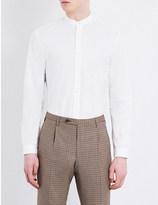 Camoshita Check-print cotton shirt