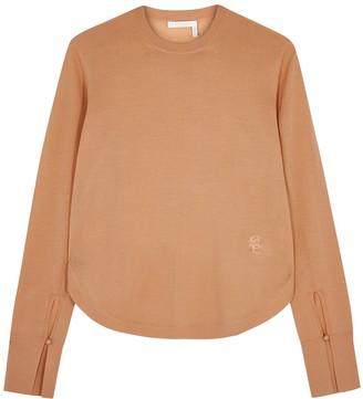 Chloé Pale Orange Fine-knit Wool Jumper