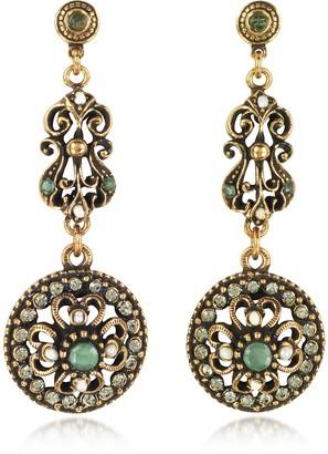 Alcozer & J Drop Earrings w/Rough Emeralds