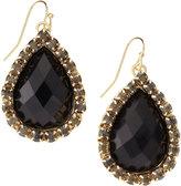 Greenbeads Teardrop Pave-Set Earrings, Black