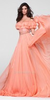 Tarik Ediz Prom Ruffled Two Piece Chiffon Prom Dress
