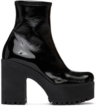 Miu Miu Black Technical Platform Boots