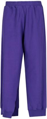 MM6 MAISON MARGIELA Wide Leg Slit Detail Track Pants