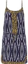 Vix Moorish Bisa Printed Washed Silk Crepe De Chine Dress