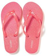 Old Navy Sparkly Hologram Flip-Flops for Girls
