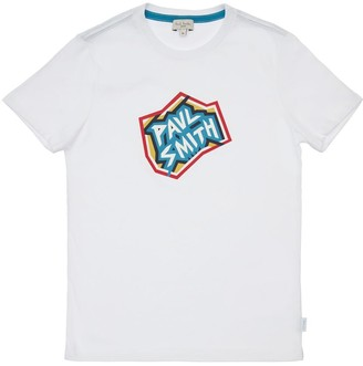 Paul Smith Logo Print Cotton Jersey T-Shirt