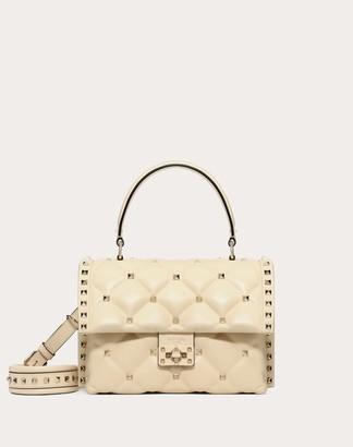 Valentino Medium Candystud Top-handle Bag Women Light Ivory Lambskin 100% OneSize