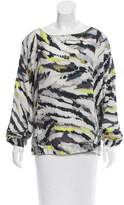 Thakoon Abstract Print Long Sleeve Top