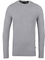 Barbour Bearsden Grey Marl Crew Neck Sweater