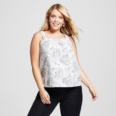 Merona Women's Plus Size Printed Tank Top Cream