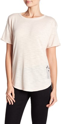 360 Cashmere Marielle Embroidered Slub T-Shirt
