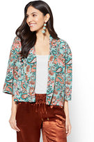 New York & Co. 7th Avenue - Open-Front Jacket - Paisley