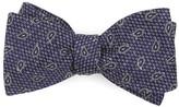 The Tie Bar Purple Pine Lake Paisley Bow Tie