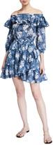 MICHAEL Michael Kors Off-the-Shoulder Floral-Print Ruffle Dress
