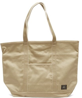 Porter-Yoshida & Co Weapon Medium Cotton-canvas Tote Bag - Beige