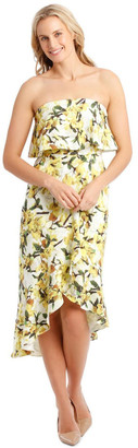 Collection Strapless Dress With Print