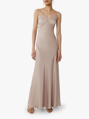 Warehouse Satin Cami Bow Bridesmaid Dress