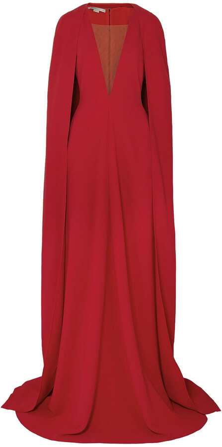 Thumbnail for your product : Stella McCartney Mesh-paneled Cady Gown