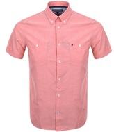 Tommy Hilfiger Short Sleeved Slim Shirt Red