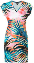 Just Cavalli leaves print T-shirt dress - women - Viscose/Spandex/Elastane - 42