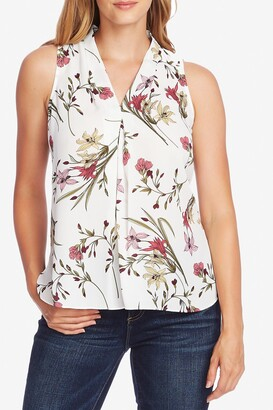 Vince Camuto Floral Soiree Sleeveless Blouse