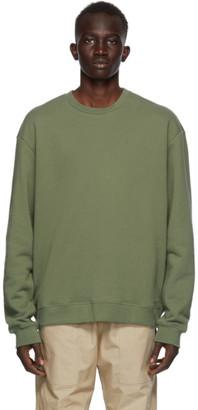 John Elliott Khaki Crew Beach Sweatshirt