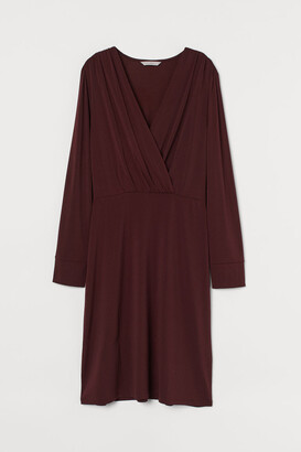 H&M V-neck Dress - Red