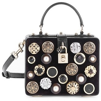 Dolce & Gabbana Dolce Box Embellished Top Handle Bag