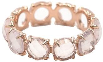 BONDEYE JEWELRY 14kt gold quartz Eternity band ring
