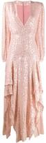 Stella McCartney lurex embroidered maxi dress
