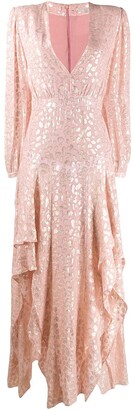 Stella McCartney Lurex Embroidered Maxi Dress